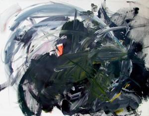 """""""Campagne Finlandaise enneigée IV"""". Acrylic on canvas 96 x 78 cm"""