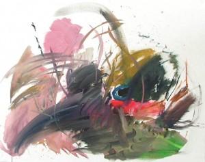"""""""Campagne Finlandaise enneigée III"""". Acrylic on canvas 96 x 78 cm"""
