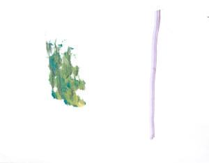 """""""Forest"""", 2021, acrylic on canvas, 105 x136cm. Gefördert durch die Senatsverwaltung für Kultur und Europa"""