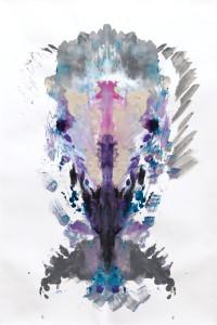 Acrylic on folded canvas